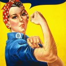 WWII ROSIE THE RIVETER RECRUITIMENT POSTER CANVAS PRINT