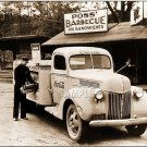VINTAGE COLA COKE DELIVERY MAN TRUCK CANVAS PRINT-LARGE