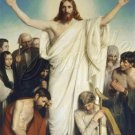 VINTAGE JESUS CHRIST COME UNTO ME CHRISTIAN CANVAS ART