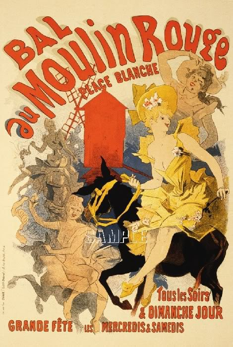 BELLE EPOQUE CHERET MOULIN ROUGE CANVAS ART PRINT LARGE
