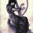 VINTAGE WITCH WICCA HARP MUSIC MAGIC CANVAS PRINT~LARGE