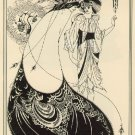 VINTAGE ART DECO NOUVEAU PEACOCK LADY CANVAS PRINT- BIG