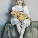 VINTAGE CHILD GIRL BLONDE ANTIQUE BABY DOLL CANVAS ART