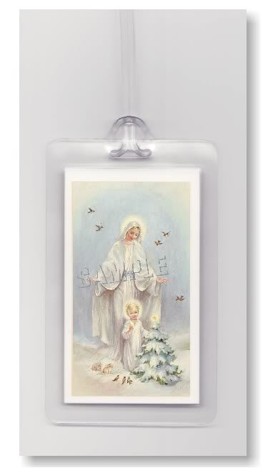 BABY JESUS GUARDIAN ANGEL ART- 2 ARTISTIC LUGGAGE TAGS