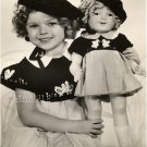 VINTAGE SHIRLEY TEMPLE & DOLL PHOTO CANVAS ART PRINT