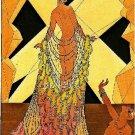 ART DECO NOUVEAU SHOW GIRL LADY GLAMOUR CANVAS PRINT