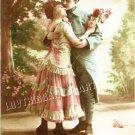 ART DECO LOVERS KISS SOLDIER ROMANCE CHIC CANVAS PRINT