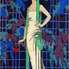 ART DECO POCHOIR FRENCH FASHION CANVAS PRINT LARGE
