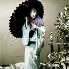 VINTAGE JAPANESE GEISHA UMBRELLA COSTUME CANVAS PRINT