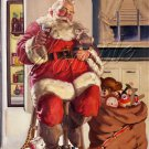 VINTAGE CHRISTMAS SANTA COKE TOYS SACK CANVAS ART PRINT