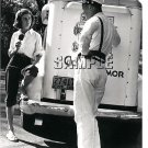VINTAGE GOOD HUMOR ICE CREAM MAN TRUCK LADY CANVAS ART