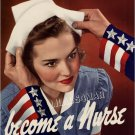 VINTAGE WWI RED CROSS NURSE MILITARY CANVAS PRINT BIG