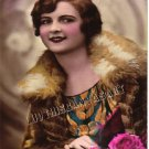 VINTAGE FRENCH FLAPPER GIRL FUR TINT PHOTO CANVAS PRINT