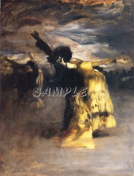 VINTAGE SPANISH DANCE FLAMENCO DANCERS CANVAS ART PRINT