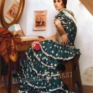 VINTAGE FLAMENCO DANCER SPANISH DANCE 3 CANVAS PRINT