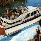 1961 CHRIS CRAFT PLEASURE BOAT CANVAS ART PRINT LARGE