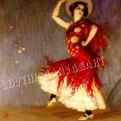 VINTAGE FLAMENCO DANCER SPANISH DANCE CANVAS ART PRINT