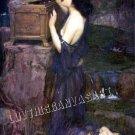 VINTAGE PANDORAS BOX FANTASY GIRL MYTH CANVAS ART PRINT