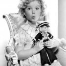 VINTAGE SHIRLEY TEMPLE & DOLL PHOTO 3 CANVAS ART PRINT