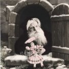 VICTORIAN CHRISTMAS ANTIQUE DOLL SANTA CANVAS ART PRINT