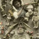 VICTORIAN CHRISTMAS DOLLS TOYS BONNE ANNE CANVAS ART