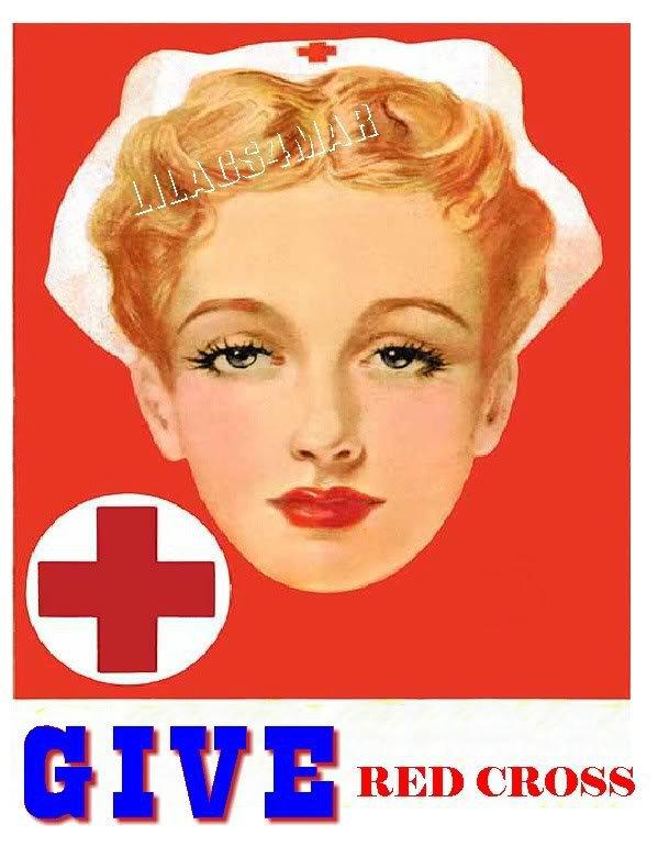 WWII RED CROSS NURSE RECRUITMENT AD CANVAS PRINT