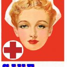 WWII RED CROSS NURSE RECRUITMENT AD CANVAS PRINT
