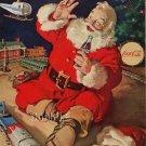 VICTORIAN CHRISTMAS SANTA COKE TRAIN CANVAS ART PRINT