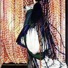 ART DECO PEACOCK LADY COSTUME CANVAS ART PRINT LARGE