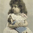 VICTORIAN CHILD GIRL PEARLS ANTIQUE DOLL CANVAS PRINT