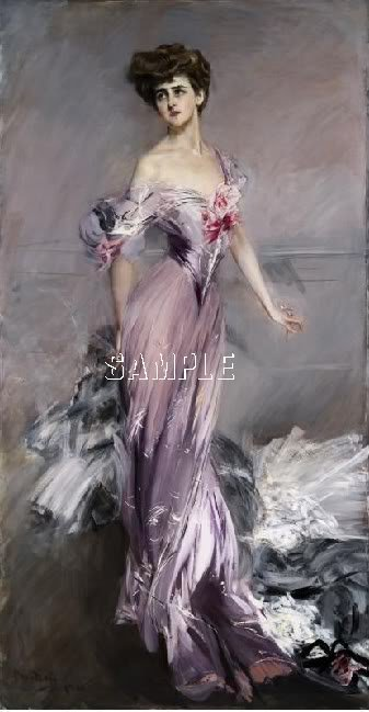 BOLDINI BEAUTIFUL WOMEN COSTUME CANVAS ART PRINT-LARGE