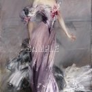 BOLDINI BEAUTIFUL WOMEN COSTUME CANVAS ART PRINT-LARGE