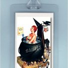 VINTAGE PIN-UP WICCA WITCH HALLOWEEN ART-2 LUGGAGE TAGS