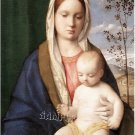 VINTAGE VIRGIN MARY MADONNA MOTHER CHILD CANVAS ART-BIG