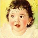 VINTAGE DIONNE QUINTUPLET ANNETTE BABY CANVAS ART BIG
