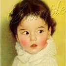 VINTAGE DIONNE QUINTUPLET EMILE BABY CANVAS ART BIG