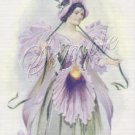 VINTAGE FLOWER FAIRY ORCHID FANTASY CANVAS PRINT LARGE