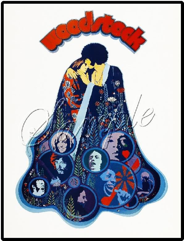 1969 WOODSTOCK FESTIVAL MUSIC LOVE PEACE CANVAS PRINT