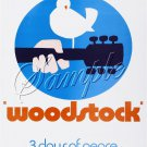 1969 WOODSTOCK FESTIVAL PEACE LOVE MUSIC CANVAS ART BIG