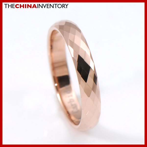 LADY' SIZE 7 TUNGSTEN CARBIDE CHAMPAGNE GOLD RING R3808