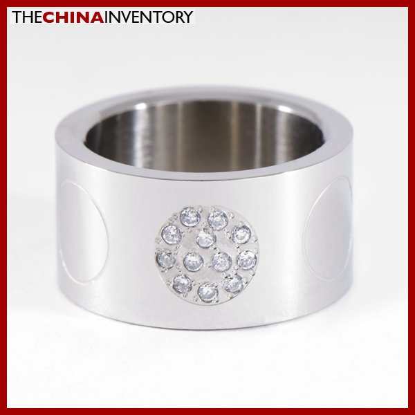 SIZE 8 STAINLESS STEEL THICK BAND RING R0817