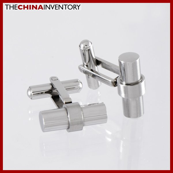 CLASSIC STAINLESS STEEL CYLINDER CUFFLINKS C1004