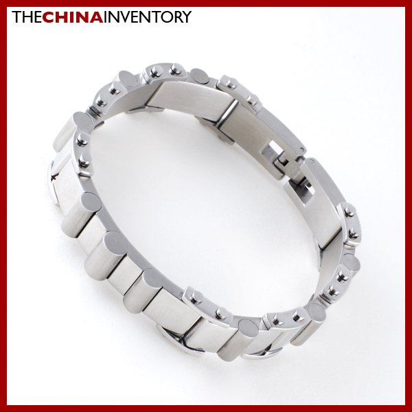 MENS STAINLESS STEEL HEAVY DUTY HANDCUFF BRACELET B0406