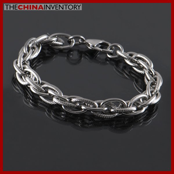 "8 1/2"""" STAINLESS STEEL TRIPLE LINK CHAIN BRACELET B1506"