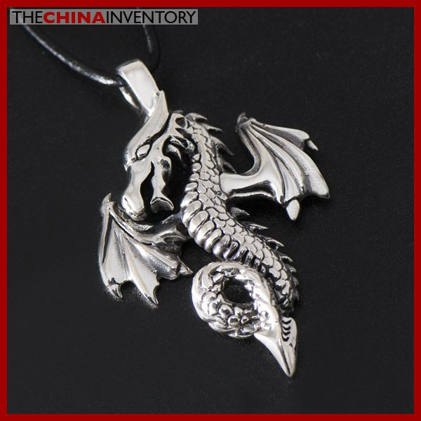 925 STERLING SILVER FIRE DRAGON PENDANT SIL1323