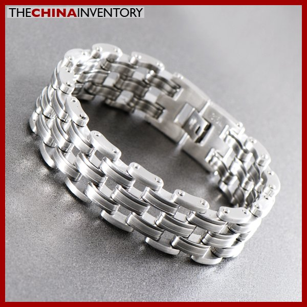 "9"""" HEAVY STAINLESS STEEL BIKE CHAIN BRACELET B1217"