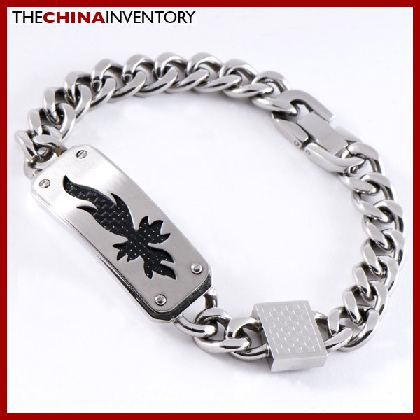 "8 1/2"""" STAINLESS STEEL CURB CHAIN CF ID BRACELET B0803"