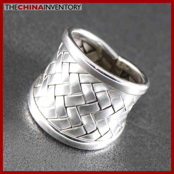 SIZE 7 925 STERLING SILVER BAMBOO RING SIL1301A
