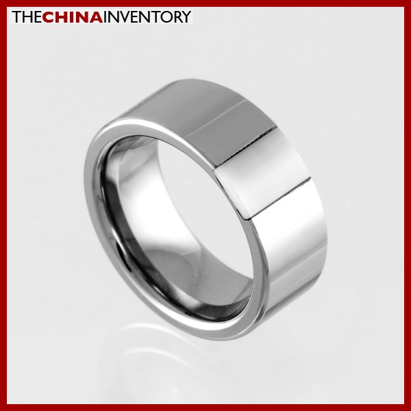 8MM SIZE 10 TUNGSTEN CARBIDE WEDDING BAND RING R0921A