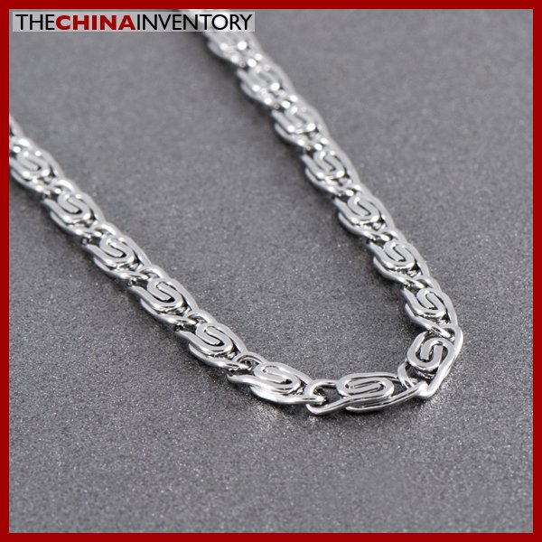 """20"""""""" 5MM STAINLESS STEEL CLIPS LINK NECKLACE N1011B"""